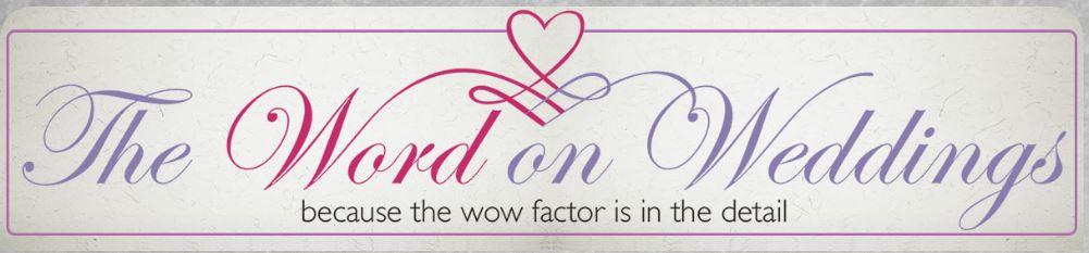 The Word on Weddings logo