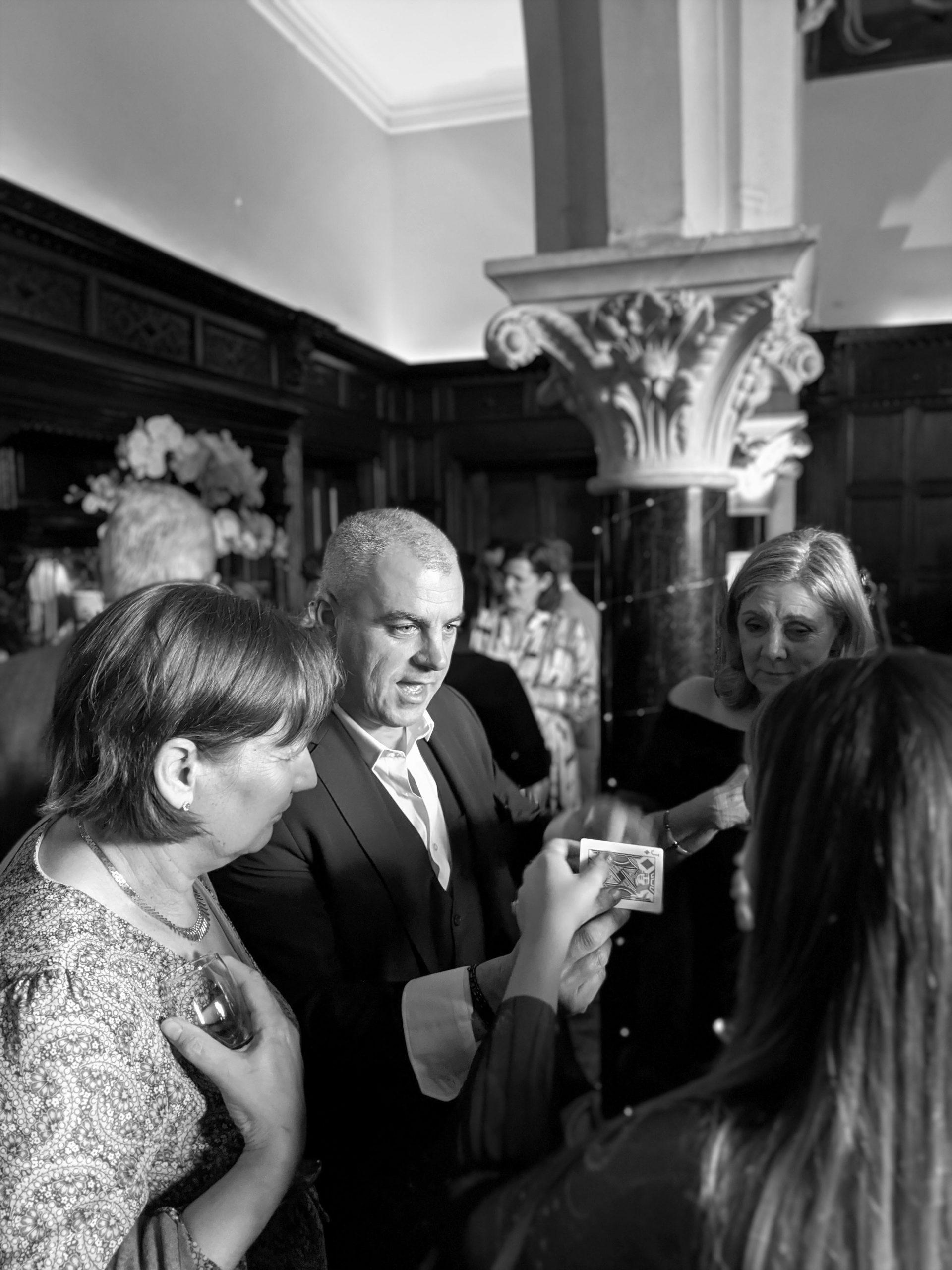 Huntsham Court - wedding day fun, magician