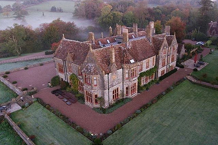 Aerial View of Huntsham Court Country House Venue