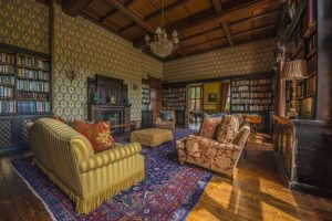 country house reception rooms - library