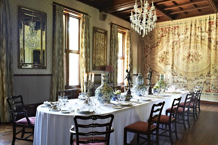 Country house hire venue - Huntsham Court dining