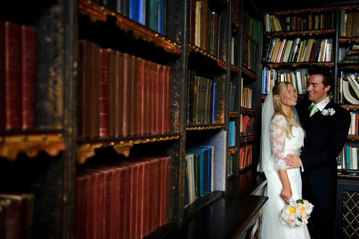 huntsham_court_library_bride_3