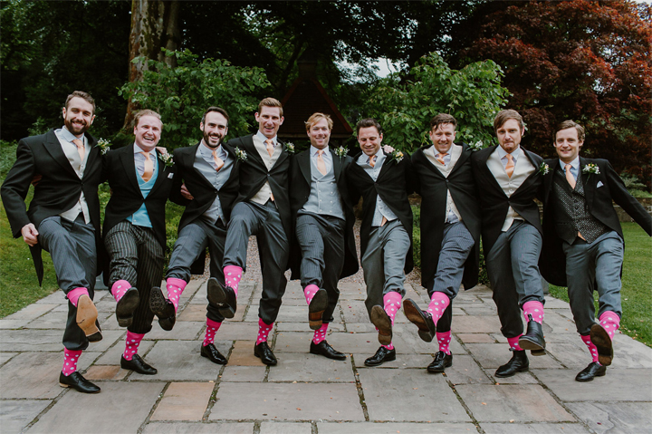 mark Bowen photography at a wind down wedding at Huntshamm Court - pink socks