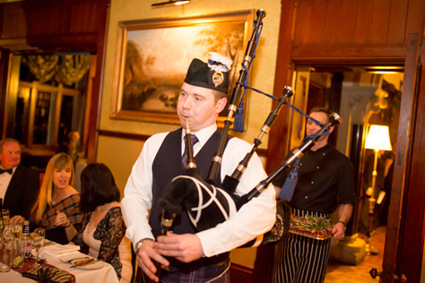 Huntsham Court - BURNS NIGHT BAGPIPES