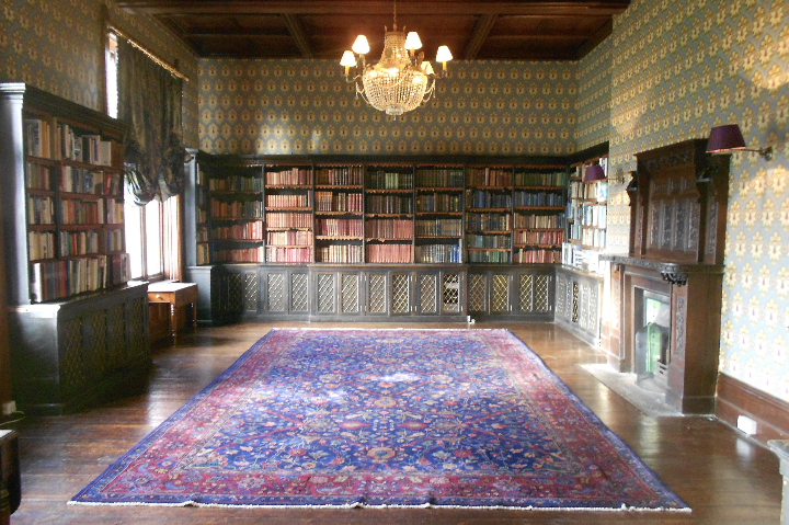hc library empty with rug