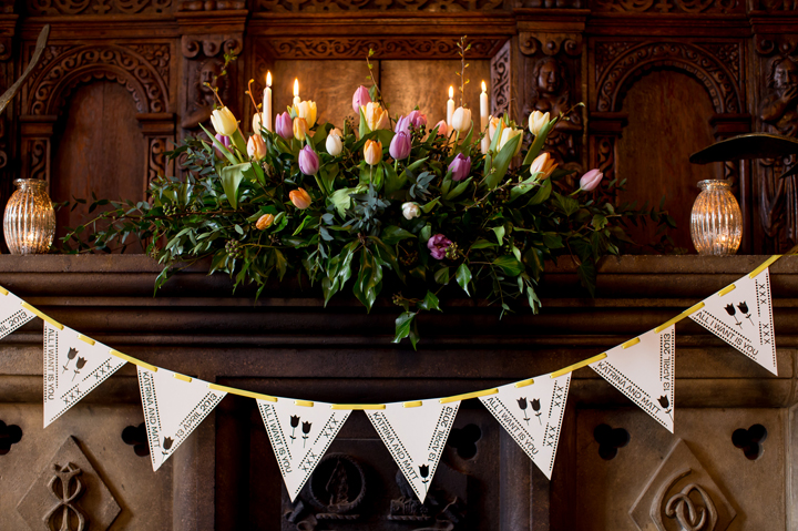 huntsham_court_spring_wedding_flowers_mantle_photo_by_evolve